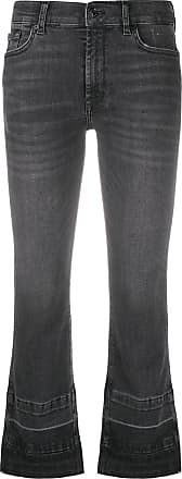 7 For All Mankind Illusion cropped bootcut jeans - Preto