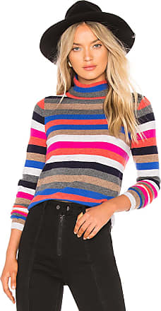 525 america Cashmere Striped Turtleneck in Pink