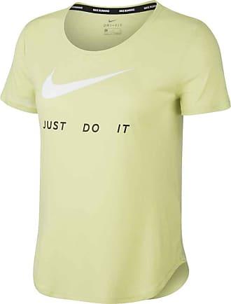 Nike Short-Sleeve Running Top Bekleidung Damen grün