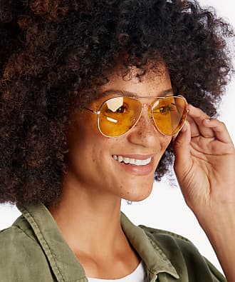 Sole Society Womens Lani Clear Lens Aviator Sunglasses Rose Gold One Size Metal From Sole Society