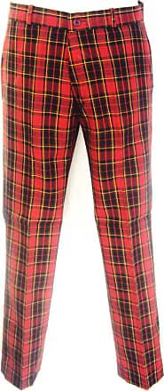 Relco Red Tartan retro Punk Mod Sta Press Trousers Free Postage, red tartan, 36
