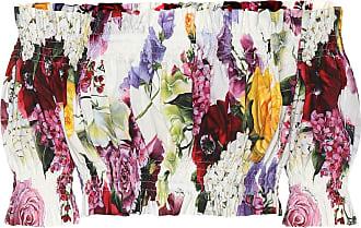 Dolce & Gabbana Floral cotton crop top