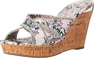 a99539d69 Delivery  free. Guess Womens ELEONORA4 Wedge Sandal Pink 9 Medium US