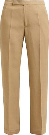 Golden Goose Mid-rise Straight-leg Trousers - Womens - Beige