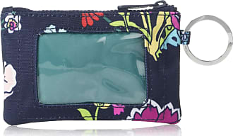 Vera Bradley Womens Recycled Lighten Up Reactive Zip ID Case, Itsy Ditsy Floral, One Size