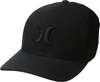 Hurley Mens Dr-Fit One & Only Flexfit Baseball Cap, Black, L-XL