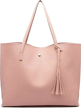 Quirk Soft Pebbled Leather Look Tote Bag - Pink