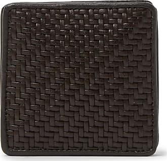 Ermenegildo Zegna Pelletessuta Leather Coin Wallet - Brown