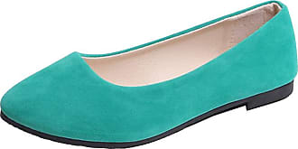 Vdual Ladies Slip On Flat Comfort Walking Ballerina Shoes Summer Loafer Flats UK 2.5-UK 8.5 Grass Green