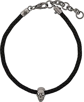 Northskull Pulseira de corda com caveira - Preto