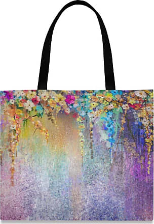 XiangHeFu Pencil Case School Big Zipper Pouch High Quality Pocket Holder Abstract Colorful Floral Painting1