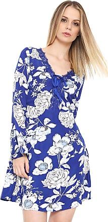 04a8e1dd14 Fiya Lady Vestido Fiya Lady Curto Renda Azul