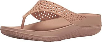 FitFlop Womens Ringer Welljelly Flip Flop, Nude, 5 M US