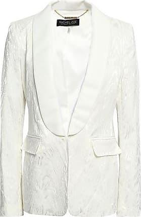 Rachel Zoe Rachel Zoe Woman Jaz Faille-trimmed Satin-moire Blazer Off-white Size 10