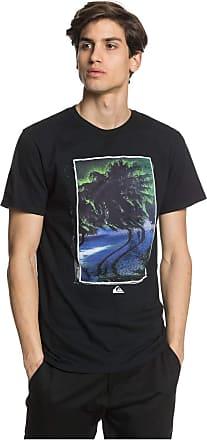 Quiksilver Mens Flourescent Rush TEE Shirt, Black, XXL