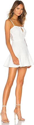 Superdown Del Crochet Keyhole Dress in White