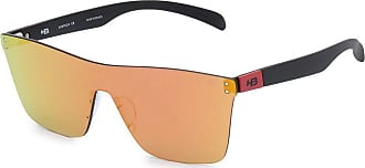 HB Óculos de Sol Hb Floyd Mask Matte Black Dark Red I Red Chrome