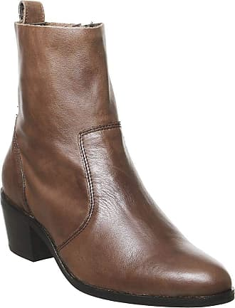 Office Aloe Unlined Casual Boot Brown Leather - 3 UK