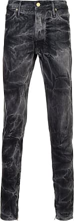 Fear of God Black Black Bleached Effect Slim-fit Jeans - The Webster