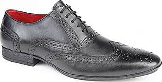 Route 21 Mens 5 Eye Brogue Oxford Shoes (11 UK) (Black)