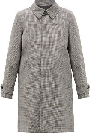 A.P.C. Dinard Houndstooth-checked Twill Coat - Womens - Black White