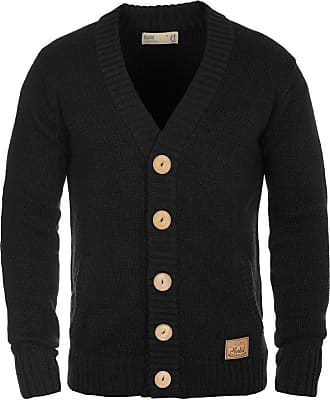 Solid Philotus Mens Cardigan Chunky Knit Jacket With V-Neck Made Of 100/% Cotton