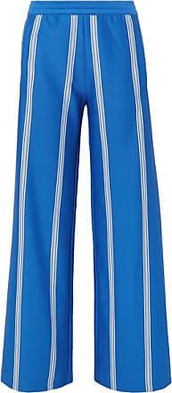 Tory Sport Striped Stretch-knit Wide-leg Track Pants - Blue