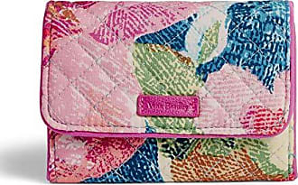 Vera Bradley Iconic RFID Riley Compact Wallet, Signature Cotton, Superbloom