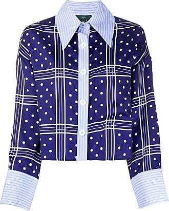 JEJIA Camisa com padronagem contrastante - Azul