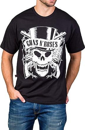 Bandalheira Camiseta Guns n Roses Logo Caveira 100% Algodão