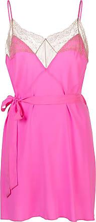 Kiki De Montparnasse Le Shock lace-trimmed cami dress - PINK