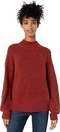 Goodthreads Cotton Half-Cardigan Stitch Mock Neck Sweater Donna Marchio