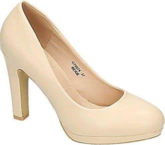cc186cb141d7a2 King Of Shoes Klassische Damen Pumps Stilettos High Heels Plateau Abend  Party Schuhe Bequem 074 (