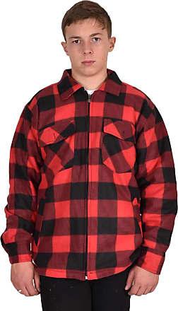 True Face Mens AS-109 Fleece Jacket Red & Wine XL