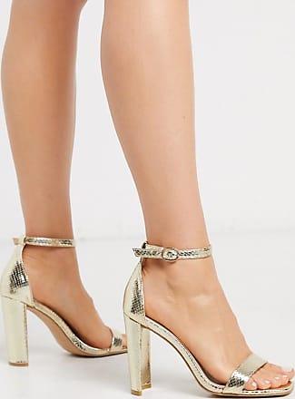 Glamorous Sandali effetto nudo oro metallico pitonato