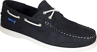 Quayside Ladies Alderney Soft Leather Boat Deck Shoes Navy/White UK 3.5