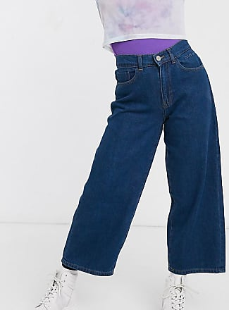 Noisy May wide leg jeans in dark blue