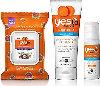 Yes To Carrots Face Kit - Nutrition for Depleted Skin (Facial Wipes, Cleanser, SPF 15 Moisturizer)