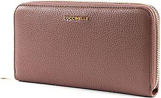ad20622262ea1 Coccinelle Metallic Soft Zip Around Wallet L Dark Pivoine