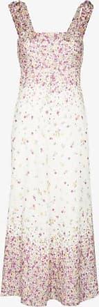 Zimmermann Womens White Carnaby Ditsy-print Midi Dress