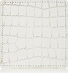 Barneys New York Crocodile-Embossed Leather Coaster - White