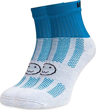 Wackysox Ankle Running Sports Socks Turquoise Blue