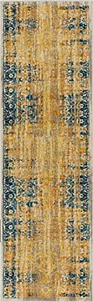 Well Woven LA-11-2 Laurent Stratton Modern Vintage Eclectic Yellow 23 x 73 Runner Area Rug