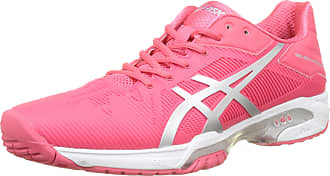 be6480349b08 Asics Womenss Gel-Solution Speed 3 Tennis Shoes Rouge Red Silver White