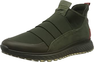 Ecco Mens St.1 M Hi-Top Trainers, Green (Deep Forest/Deep Forest/Fired Brick 51495), 10.5/11 UK