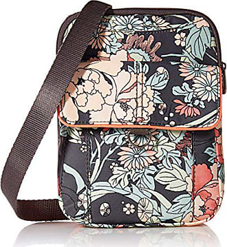 Sakroots Wynnie Small Flap Messenger-Nylon, charcoal flower power