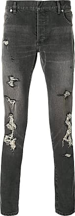 Balmain distressed slim fit jeans - Black