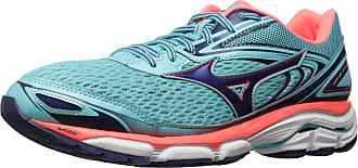 Mizuno Womens Wave Inspire 13 Running Shoes, Blue Radiance/Blueprint/Fiery Coral, 8 B US