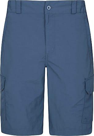 Mountain Warehouse Explore Mens Shorts - Fast Dry Winter Shorts, Light Shrink & Fade Resistant Hiking Short Pants, 5 Pockets - Ideal Shorts for Walking, Safari, Beach Bl