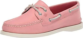 Sperry Top-Sider Womens A/O 2-Eye Boat Shoe, Washed Red, 055 M US